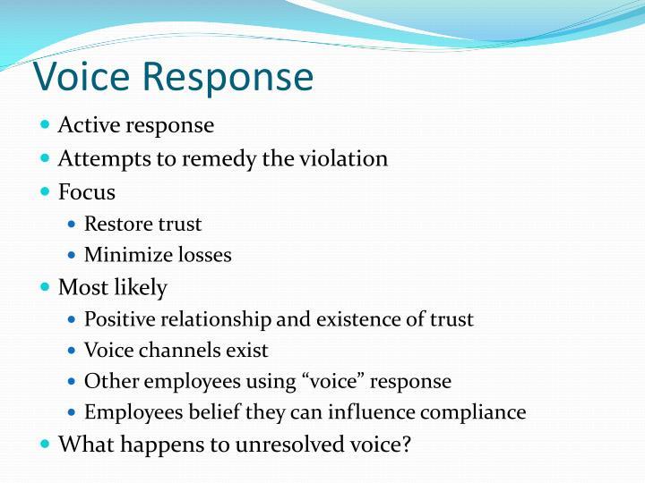 Voice Response