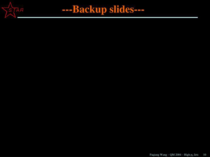 ---Backup slides---