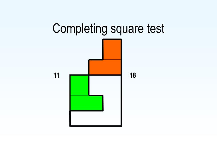 Completing square test