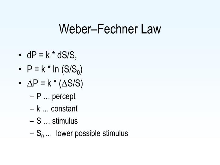 Weber–Fechner Law