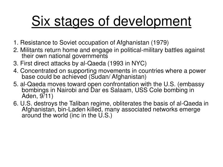 Six stages of development