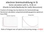 e lectron bremsstrahlung in si3