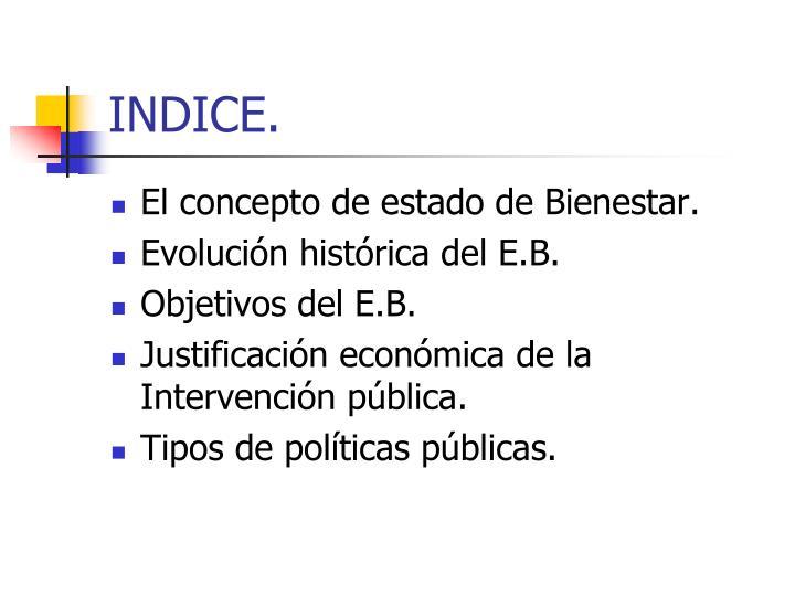 INDICE.