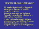 genetic programming gp