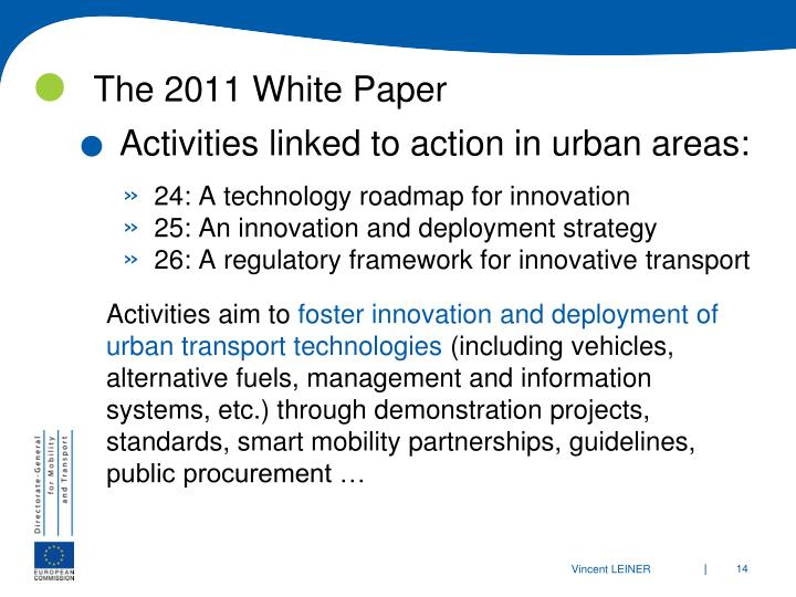 The 2011 White Paper