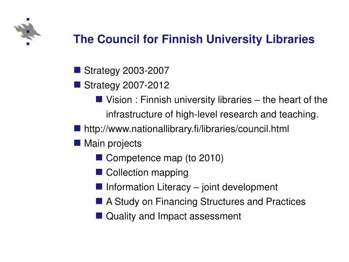 The Council for Finnish University Libraries