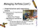 managing asthma cont