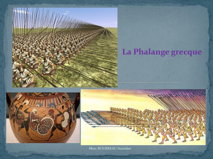 La Phalange grecque