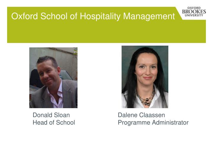 Oxford School of Hospitality Management