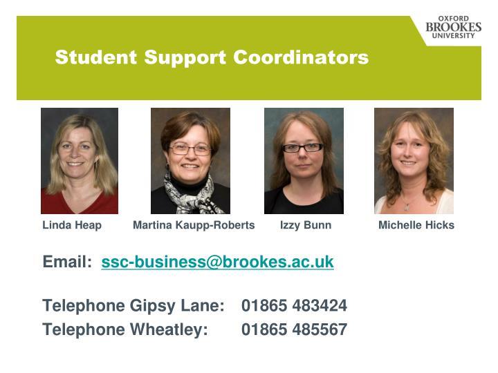 Student Support Coordinators
