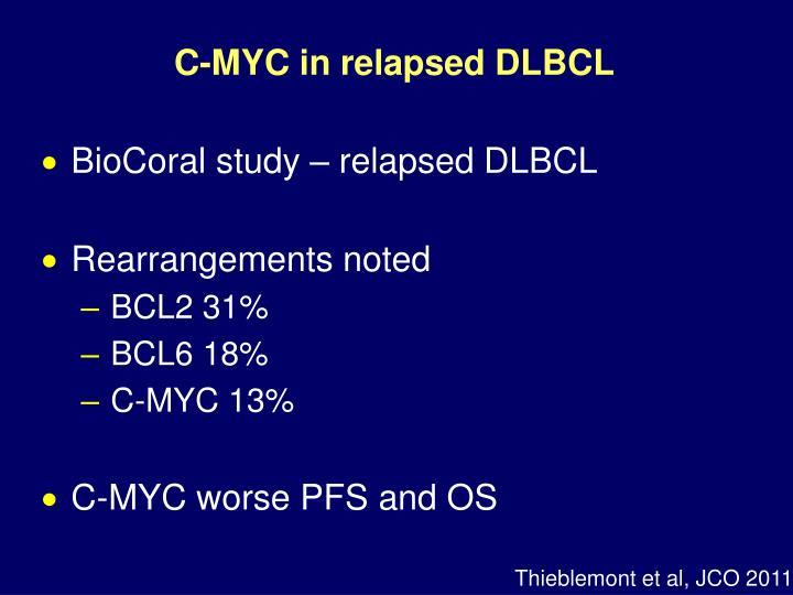 C-MYC in relapsed DLBCL