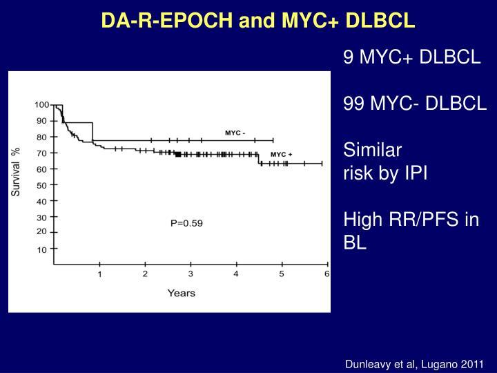 DA-R-EPOCH and MYC+ DLBCL