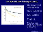 r chop and myc rearranged dlbcl