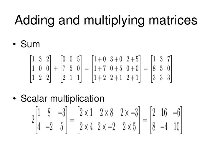 Adding and multiplying matrices