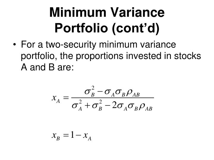 Minimum Variance