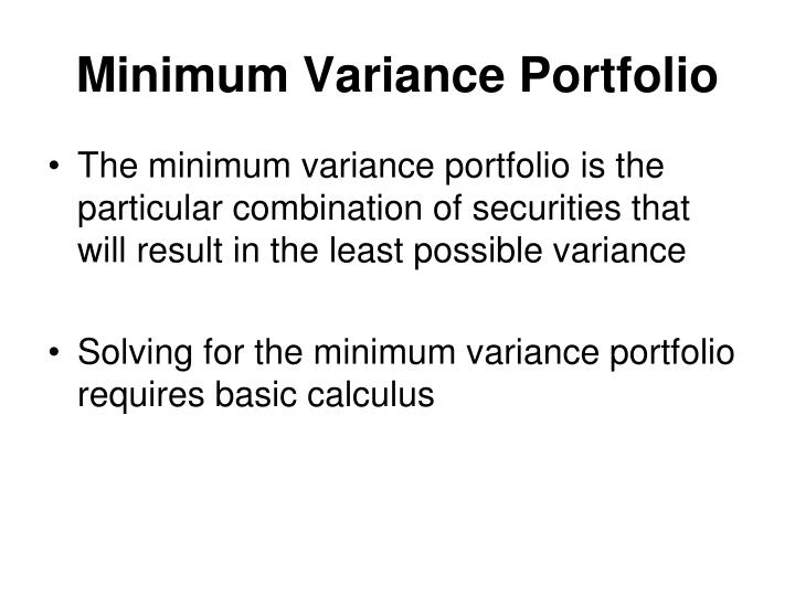 Minimum Variance Portfolio