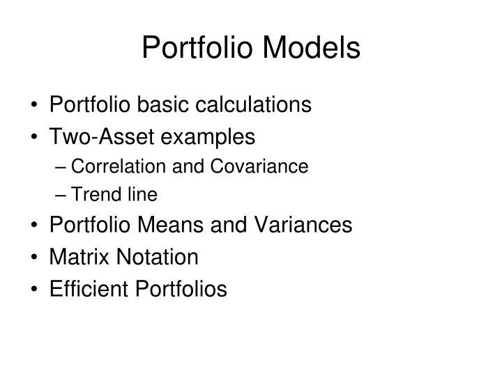 Portfolio Models