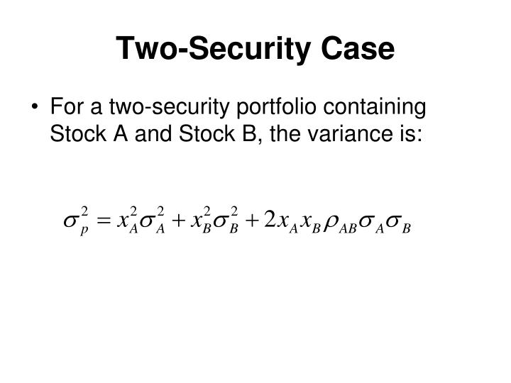 Two-Security Case