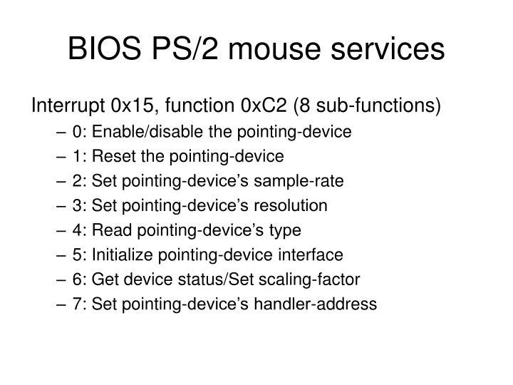 BIOS PS/2 mouse services