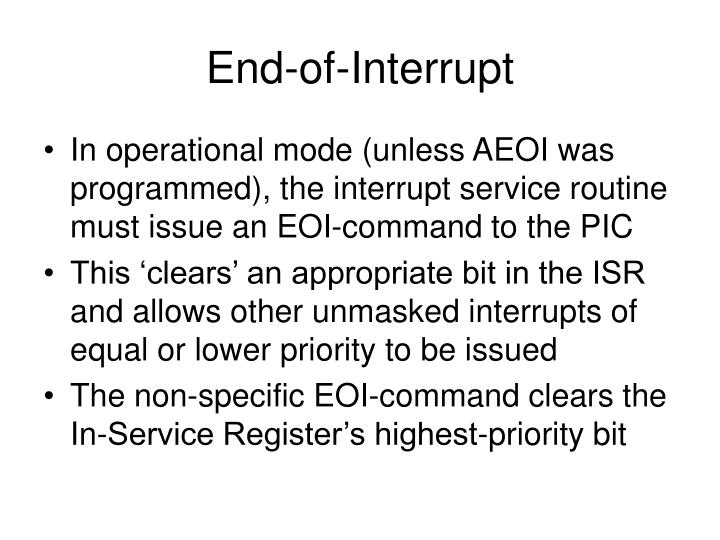 End-of-Interrupt