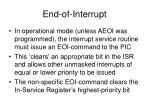 end of interrupt