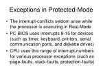 exceptions in protected mode