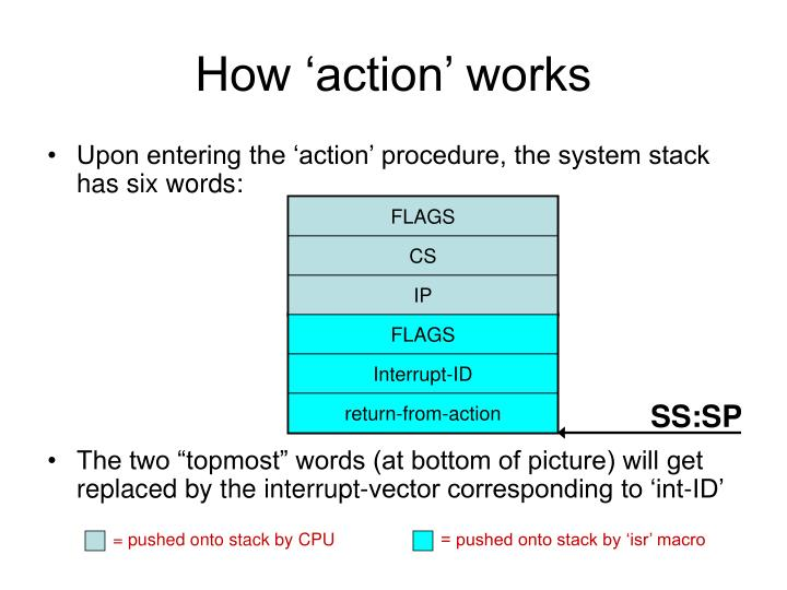 How 'action' works