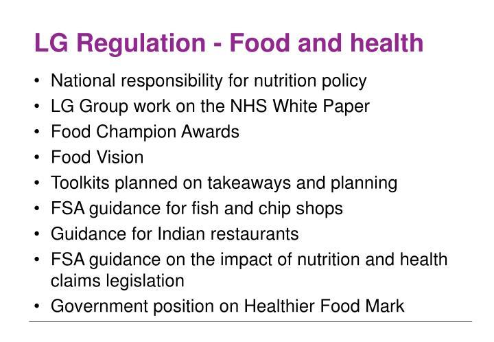 LG Regulation - Food and health