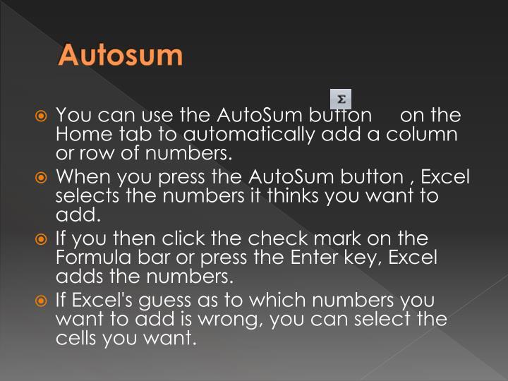 Autosum