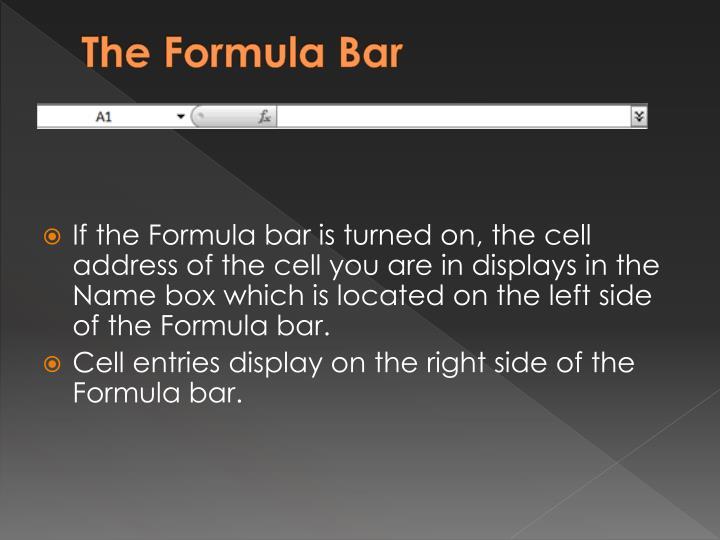 The Formula Bar