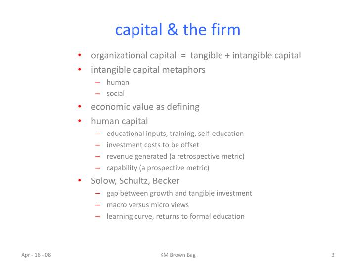 Capital the firm