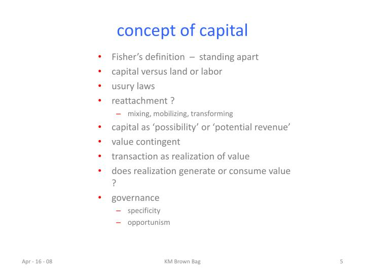 concept of capital