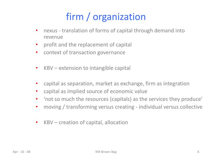 firm / organization
