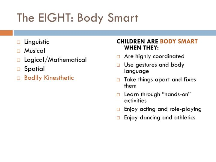 The EIGHT: Body Smart