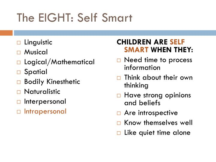 The EIGHT: Self Smart