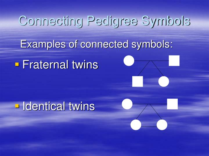 Connecting Pedigree Symbols