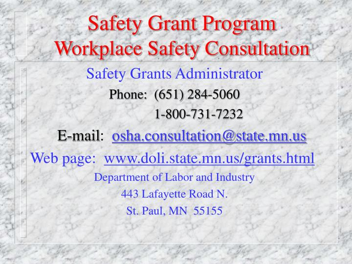 Safety Grant Program