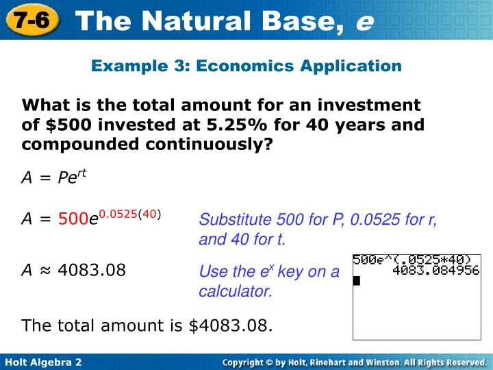 Example 3: Economics Application
