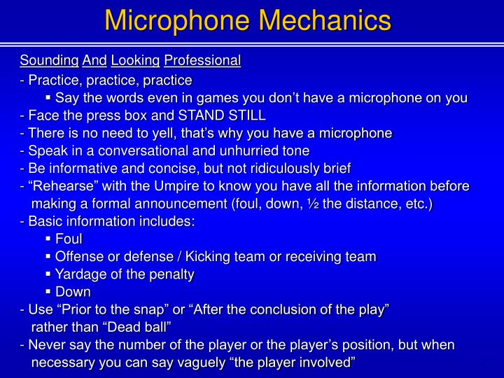 Microphone Mechanics