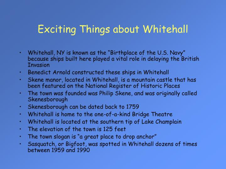 Exciting Things about Whitehall