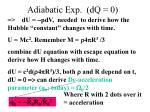 adiabatic exp dq 0