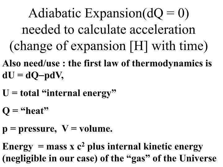 Adiabatic Expansion(dQ = 0)
