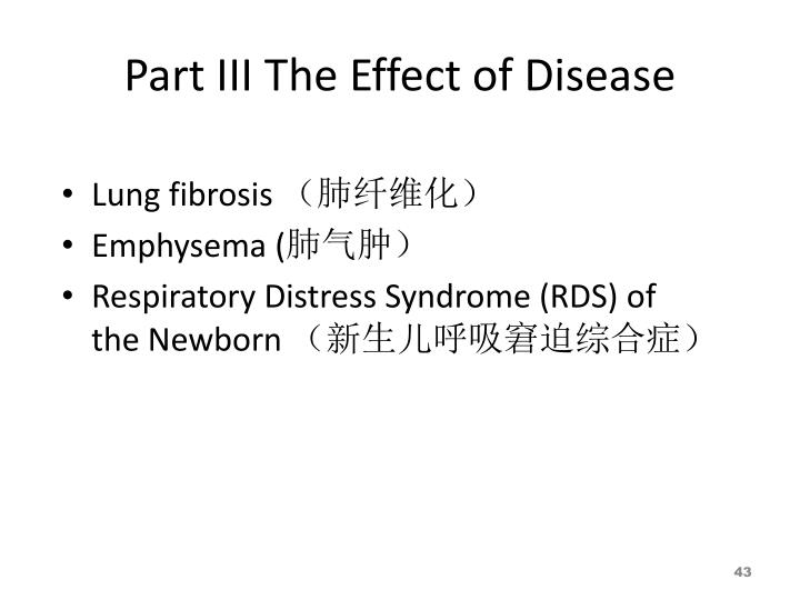 Part III The Effect of Disease
