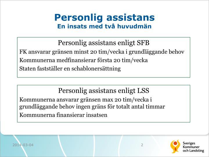 Personlig assistans