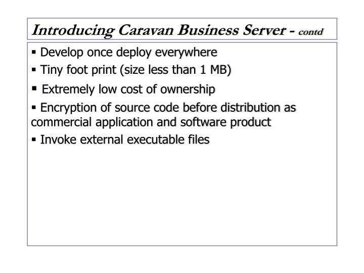 Introducing Caravan Business Server -