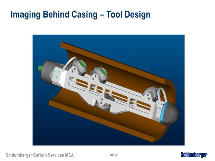 Imaging Behind Casing – Tool Design