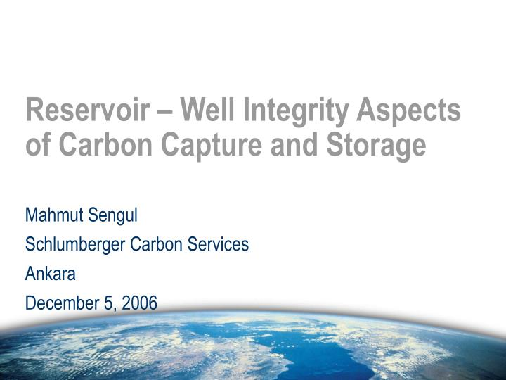 Reservoir well integrity aspects of carbon capture and storage