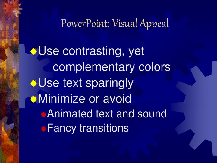 PowerPoint: Visual Appeal