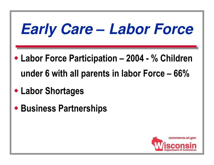 Early Care – Labor Force