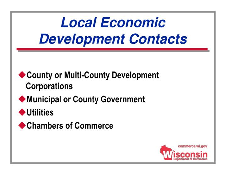 Local Economic Development Contacts